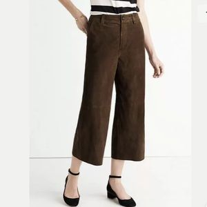 Madewell Suede Wide Leg Pants
